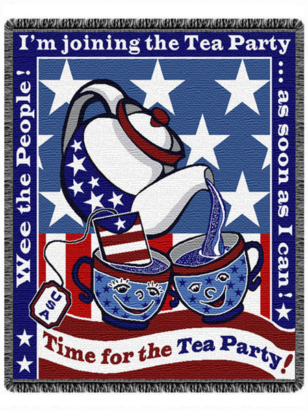 Time for the Tea Party Tapestry Throw
