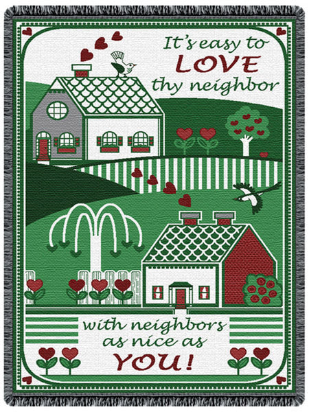 Love Thy Neighbor Tapestry Throw