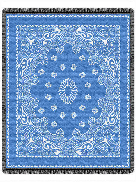Bandana Blue Tapestry Throw