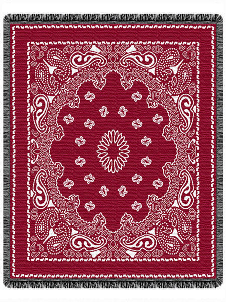 Bandana Red Tapestry Throw