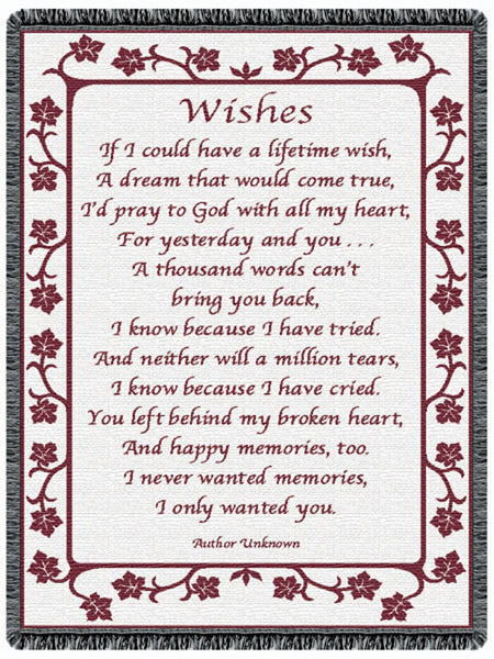 Wishes Mauve Tapestry Throw