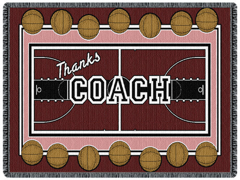Coach Basketball Tapestry Throw