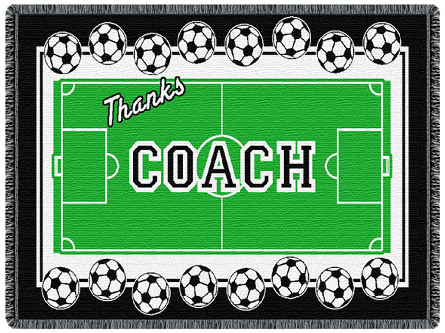 Coach Soccer Tapestry Throw