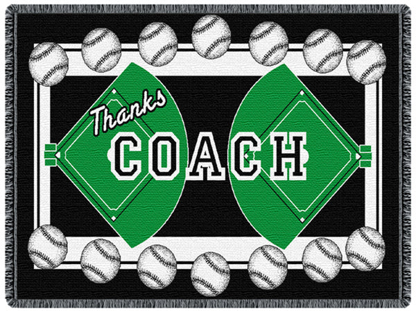 Coach Baseball Tapestry Throw