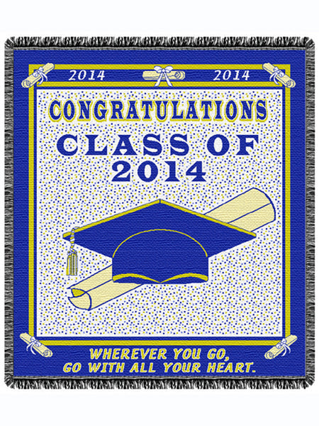 Graduation 2014 Tapestry Throw