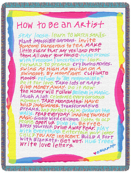 How to Be an Artist Tapestry Throw