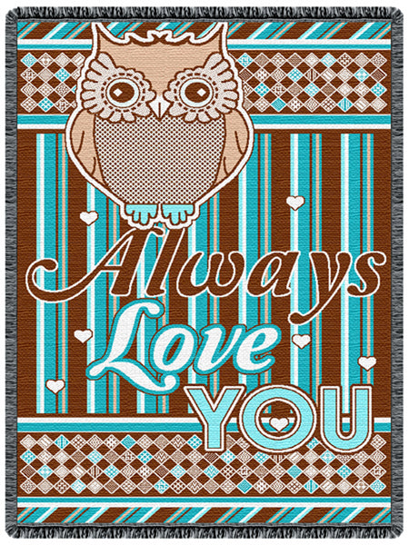 Owl Always Love You Tapestry Throw
