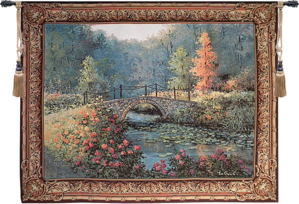 Countryside Bridge Tapestry Wall Art