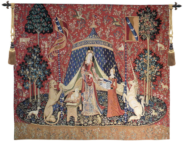 The Lady and the Unicorn - Desire Tapestry Wall Art