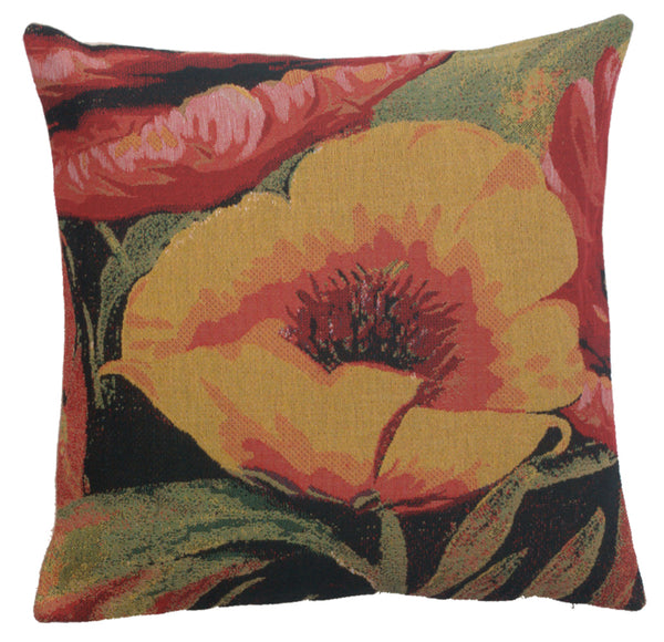Poppies V Belgian Cushion Cover