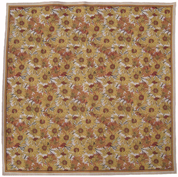 Sunflowers Table Cover Belgian Throw