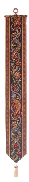 Hunt of the Boar I Tapestry Bell Pull