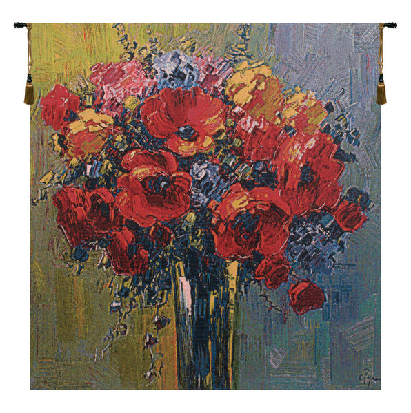 Coquilicots by Pejman Belgian Tapestry Wall Hanging