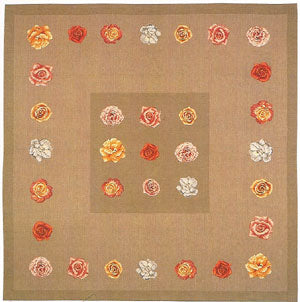 Row of Pink Roses I French Tapestry Throw