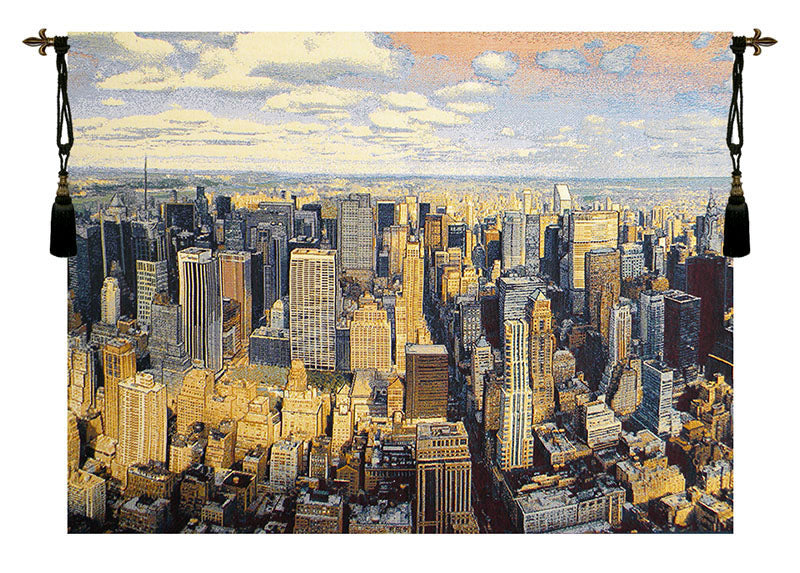 A New York Day Italian Tapestry Wall Hanging