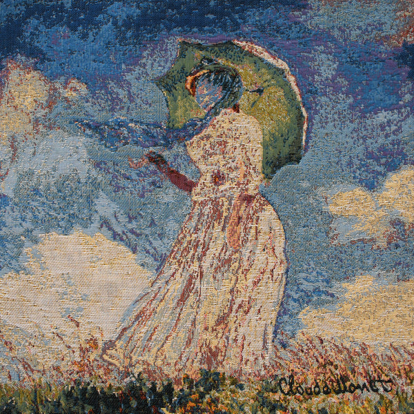 Monet's Lady with Umbrella European Cushion Cover