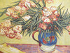 Oleanders and Books Italian Tapestry Wallhanging