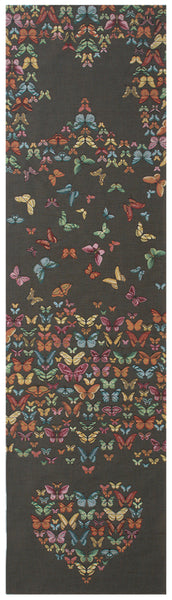 Butterflies Dark  French Tapestry Table Runner