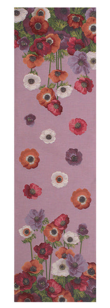 Anemones Pink French Tapestry Table Runner