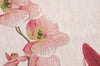 Pink Orchids White  French Tapestry Table Runner