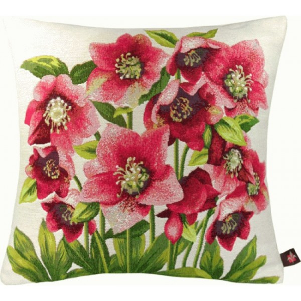 Hellebores White French Tapestry Cushion