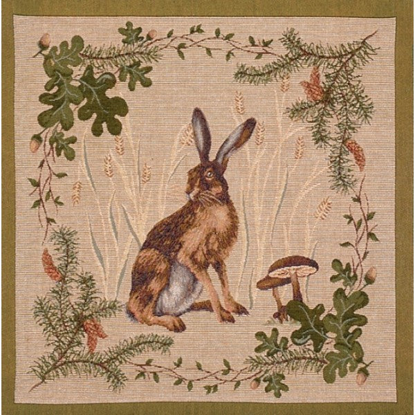 The Hare I French Tapestry Cushion