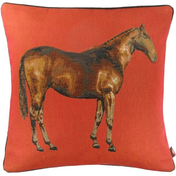 Horse Red 1 French Tapestry Cushion