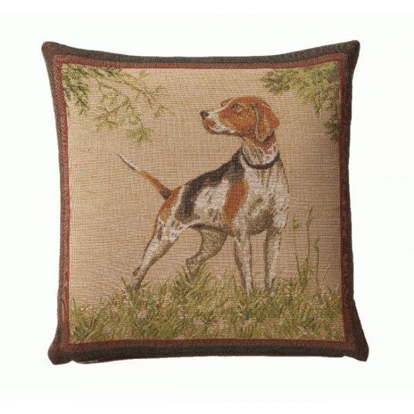 Dog Pointer French Tapestry Cushion