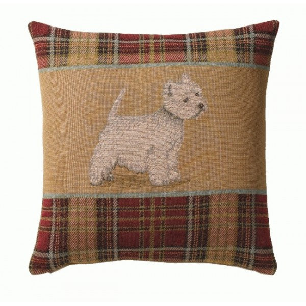 Westie Red  French Tapestry Cushion