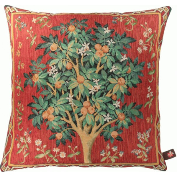The Orange Tree 2 French Tapestry Cushion