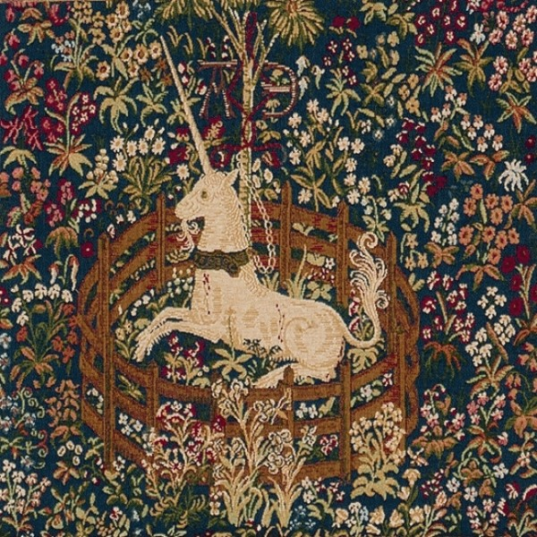 Licorne Captive 1 French Tapestry Cushion