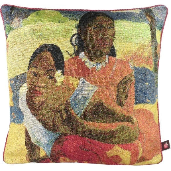 Gauguin 2 Young Ladies French Tapestry Cushion