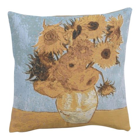 Bunch of flowers by Van Gogh French Tapestry Cushion
