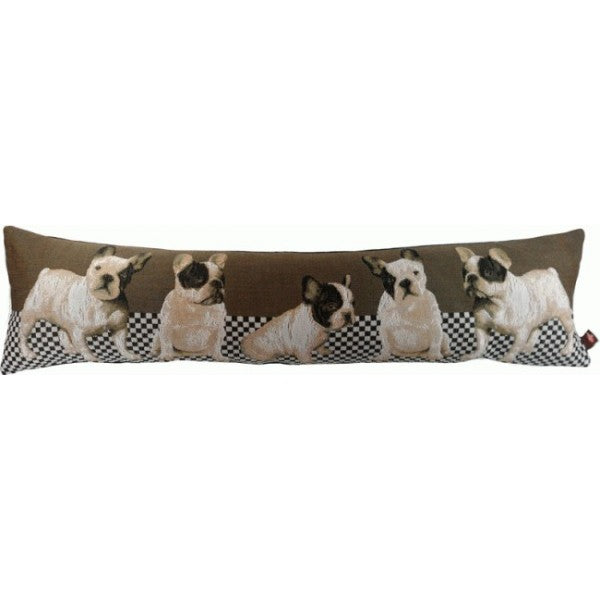 Dogs in Grey Bolster French Bolsters