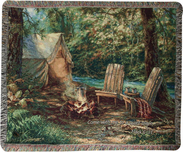 Autumn Retreat w/Verse Tapestry Throw