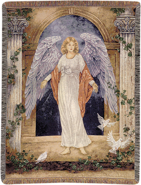 Guardian Angel I Tapestry Throw