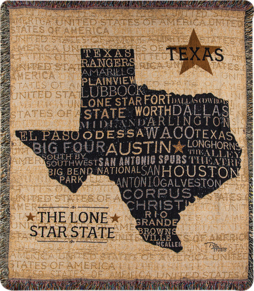 USA Texas Tapestry Throw