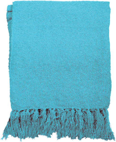 Indoor/Outdoor Blue Tapestry Throw