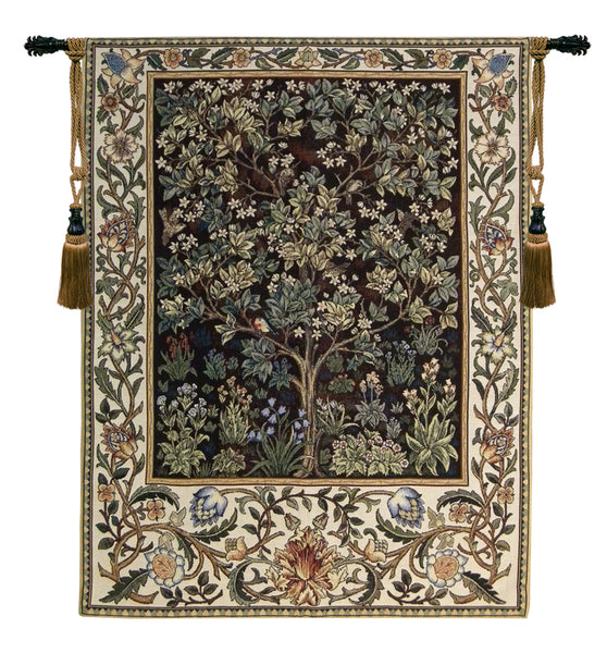 Tree of Life in Brown Tapestry Wall Art