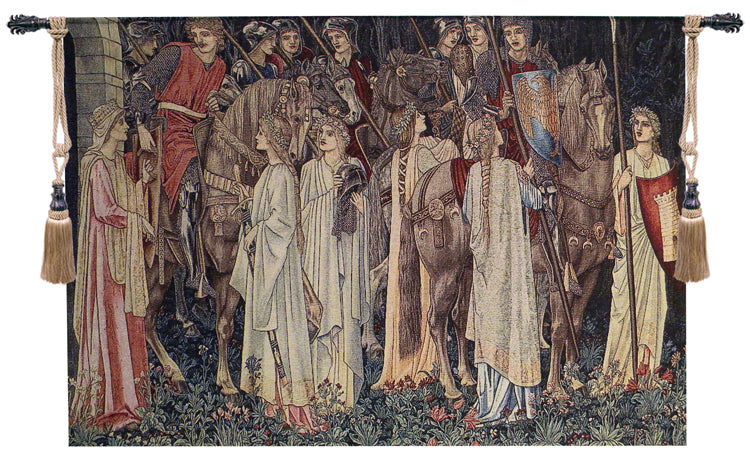 Departure of the Knights I Tapestry Wall Art