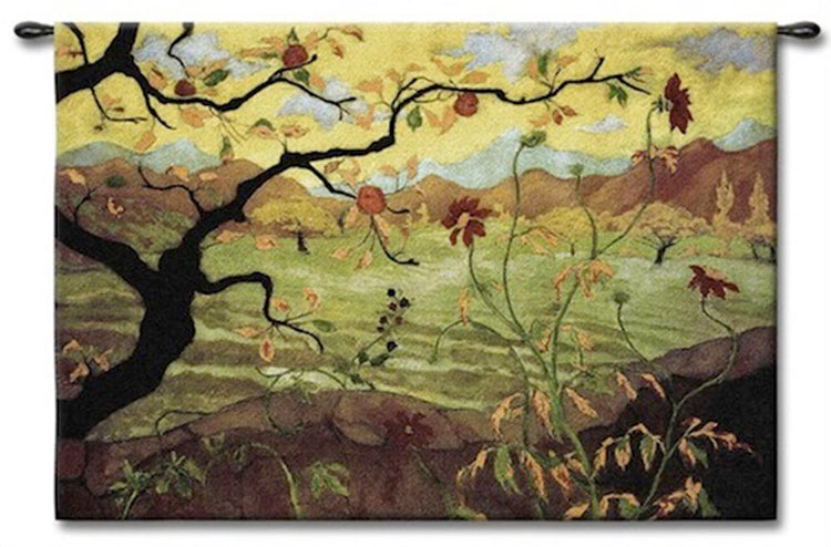 Abstract Apple Fruit Tree Tapestry Wall Art