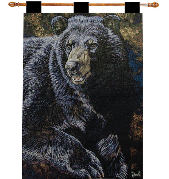 Black Bear III Fine Art Tapestry