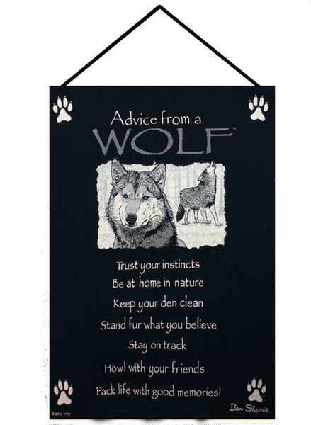 Advice From a Wolf I Fine Art Tapestry
