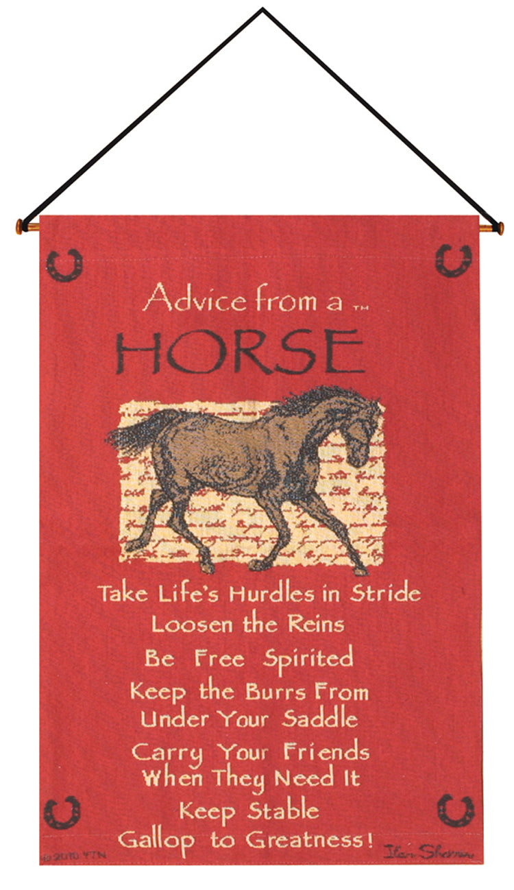 Advice From A Horse Tapestry Wall Hanging