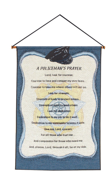 A Policeman's Prayer Tapestry Wall Hanging