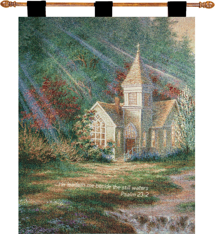 Be Still w/Verse I Fine Art Tapestry