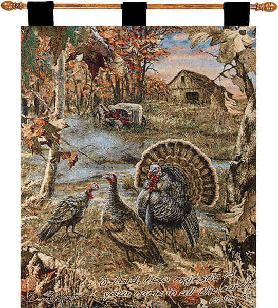 Turkey Ranch w/Verse I Tapestry Wall Hanging