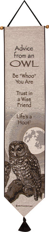 Advice From An Owl Bell Pull Tapestry Bell Pull