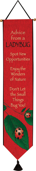 Advice From A Ladybug Bell Pull Tapestry Bell Pull