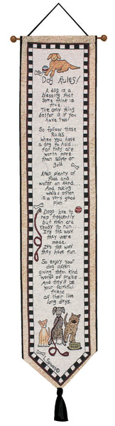 Dog Rules Bell Pull Tapestry Bell Pull